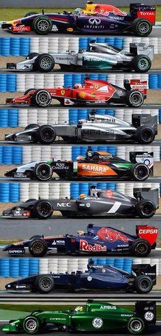 2014 Formula 1 Lineup.