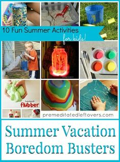 10 Fun Summer Activities for Kids - Fun and frugal activities that you can do with your children this summer. Easy projects using common household items.