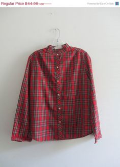 Check out this item in my Etsy shop https://www.etsy.com/listing/243009794/vintage-tartan-grunge-plaid-red-green