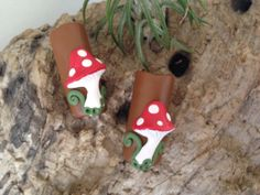 Woodland mushroom dread bead by thisthatandthese on Etsy, $5.00