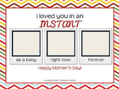 Last Minute Mother's Day Printable
