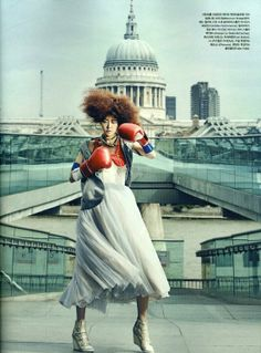 """Go Olympic"": Hyoni Kang in London by Kang Hyea Won for Vogue Korea"