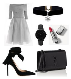 """""""Untitled #1"""" by eylullduru ❤ liked on Polyvore featuring Yves Saint Laurent, CLUSE, Burberry and Gianvito Rossi"""