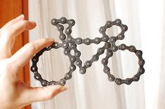 UpCYCLEd bike chain Bike Sculpture