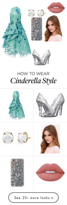 """A Cinderella update"" by allyse-sympson on Polyvore featuring Monique Lhuillier, Dolce&Gabbana, Lulu*s and Lime Crime"