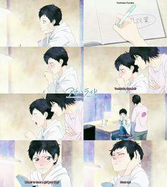 Ao Haru Ride- Kou was so adorable in junior high. Tanaka on the other hand went totally rebellish Manga Anime, Anime Art, Death Note, Me Me Me Anime, Anime Love, Futaba Y Kou, Ao Haru Ride Kou, Tanaka Kou, Fairy Tail