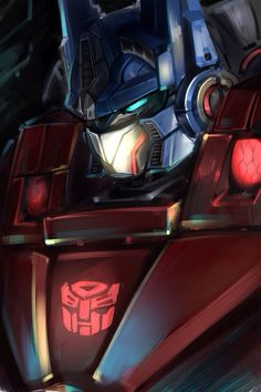Optimus Prime looks so cool in this picture, looks like he would have a different vehicle, which I would be curious to see