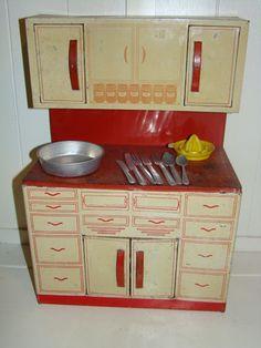 Vintage Wolverine Toy Kitchen Hoosier Cabinet by anniescupboards, via Flickr