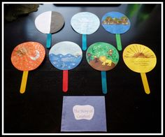 April's Homemaking: Simply Sunday School - Creation Story Sequence Cards and Mini Book Craft
