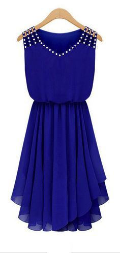 Sweet blue pleated dress