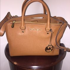 Michael Kors Sutton Suffaino Tote Authentic Michael Kors! In perfect condition only used twice. No stains or marks,shoulder strap included. No trades Michael Kors Bags Totes