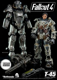 This Fallout 4 T-45 Power Armor Collectible Figure Will Make You Go Insane
