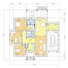 Проект одноэтажного дома, 189,29м2 | Проекты домов и коттеджей Floor Plans, Exterior, House Design, Arch, Home, Longbow, Outdoor Rooms, Architecture Design, Wedding Arches
