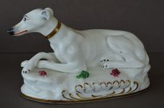 Antique Staffordshire Early Porcelain Dogs - Greyhound | eBay