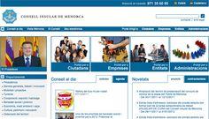 Web del Consell Insular de Menorca