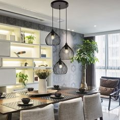 Pendant Lighting Over Dining Table, Kitchen Lighting, Over The Table Lighting, Contemporary Dining Room Lighting, Entry Lighting, Lighting Ideas, Cluster Lights, Pendant Lights, Kitchen Dinning