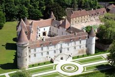 The Chateau de Bazoches, one of the highlights of the Morvan Natural Park in Burgundy