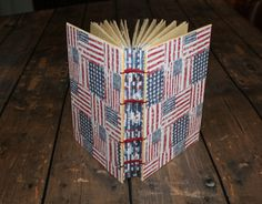 Rustic American Flag Travel Journal, Spiral Notebook, Notebook journal, Writing Journal, American Flag Journal, Patriotic Journal, USA - pinned by pin4etsy.com