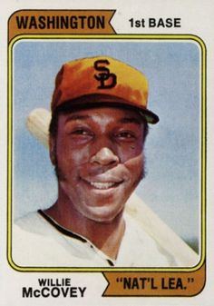 Willie McCovey   | 1974 Topps  McCovey #250-wash (Hall of Fame)