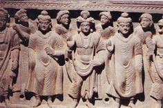 "Relief : Ancient Buddhist civilization ""Gandhara"". Taxila, Pakistan."