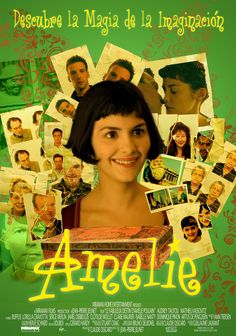 Green predominates throughout the wonderful French film AMELIE.  It makes sense, since it's rife with magical realism.