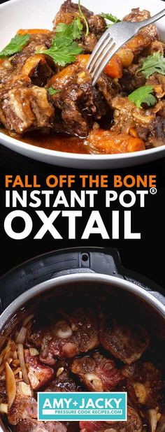 Instant Pot Oxtail | Pressure Cooker Oxtails | Instapot Oxtail | Oxtail Stew | Instant Pot Beef Recipes | Pressure Cooker Beef Recipes #instantpot #recipes #easy Pressure Cooker Oxtail, Instant Pot Pressure Cooker, Pressure Cooking, Pressure Cooker Recipes Beef, Ox Tail Slow Cooker Recipe, Oxtail Stew Slow Cooker, Beef Oxtail, Oxtail Soup, Oxtail Recipes Crockpot