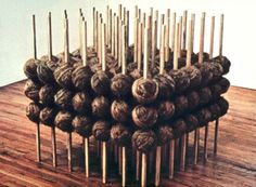 1 Rope.  1970  Eva Hesse b.1936 – d.1970, German-born American sculptor. Postminimalism.