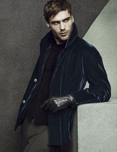 The new #GiorgioArmani advertising campaign for fall shot by Sølve Sundsbø, featuring George Alsford.
