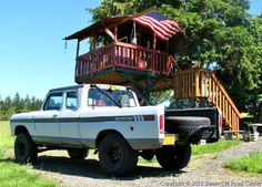 1974 Ford F-100 Prerunner by the tree house.  www.salemoffroadcenter.com