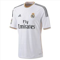 Real Madrid Home Kit, Away and Third Kits released. Real Madrid Kits are sponsored by Fly Emirates. Real Madrid Away Kit is blue while the Real Third Shirt is orange. Tienda Real Madrid, Camisa Real Madrid, Equipacion Real Madrid, Adidas Real Madrid, Real Madrid Shirt, Madrid Football Club, Soccer Shop, Football Kits, Shirt Store