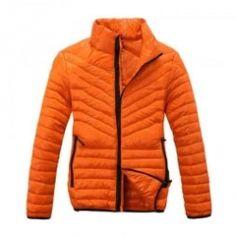 Bright Orange Down Jacket