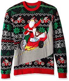 Dinosaurs Festive Blocks Ugly Christmas Sweater Black Adult Sweatshirt