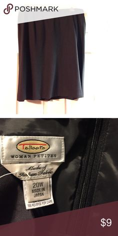 TALBOTS woman Petites steel grey skirt. Sz. 20W TALBOTS woman Petites steel grey skirt. Sz. 20W.  Italian Fabric. Like new. Skirt has some flare at the bottom Talbots Skirts A-Line or Full