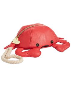 Betsey Johnson Crab Wristlet from Macys. Red Purses, Cute Purses, Purses And Handbags, Leather Handbags, Gucci Purses, Unique Purses, Unique Bags, Nautical Purses, Betsey Johnson Handbags