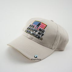 """Ask Me About My Soldier"" US Military Cap Beige Non-gender cap of the US Military ""Asked Me About My Soldier"" Brothers in Arms Accessories"