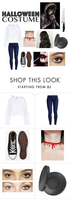 """Jeff the Killer female version"" by razzberrystar ❤ liked on Polyvore featuring Golden Goose, Converse, Charlotte Tilbury, Youngblood, Zwilling J.A. Henckels, contest, creepypasta, jeffthekiller, femaleversion and halloweencostume"