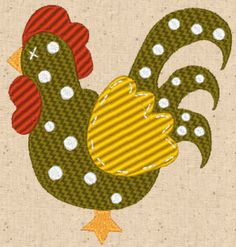 FREE Rooster 1 Design http://cindysembroiderydesigns.com/Free-Chicken-Scratch.html