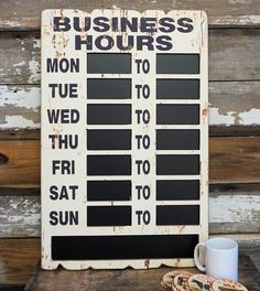 A Simpler Time is your place for nostalgic art, decor, vintage signs and gifts. Closed Signs, Open Signs, Business Hours Sign, Crate Decor, Cricut Explore Projects, Nostalgic Art, Cabin Design, Chalkboard Signs, Herbalife