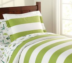 I Love The Rugby Duvet Cover On Potterybarnkids Maybe For J S Boy Bed Divas Lime Green