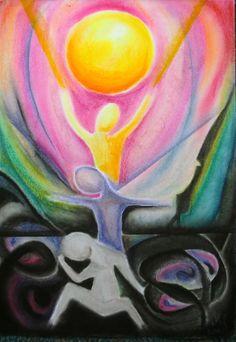 """""""WISH AND VERITY""""  (Wunsch und Wahrheit) - Pastel chalk on paper,  30x42 cm - FOR SALE!"""