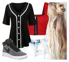 """Untitled #8456"" by carmellahowyoudoin ❤ liked on Polyvore featuring WearAll, LE3NO and NIKE"