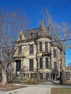 Cleveland Ohio - Franklin Castle, rumored to be haunted and contain secret passages and rooms.This is straight across the end of my friends road