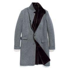 "sweater coat - cashmere double & ""castorino"" fur"