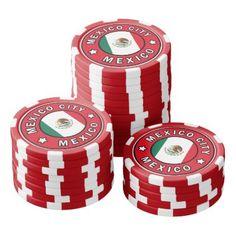 Mexico City Mexico Poker Chip Set - personalize gift idea diy or cyo