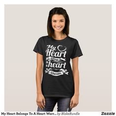 My Heart Belongs To A Heart Warrior boyfriend t-sh T-Shirt - Fashionable Women's Shirts By Creative Talented Graphic Designers - #shirts #tshirts #fashion #apparel #clothes #clothing #design #designer #fashiondesigner #style #trends #bargain #sale #shopping - Comfy casual and loose fitting long-sleeve heavyweight shirt is stylish and warm addition to anyone's wardrobe - This design is made from 6.0 oz pre-shrunk 100% cotton it wears well on anyone - The garment is double-needle stitched at…