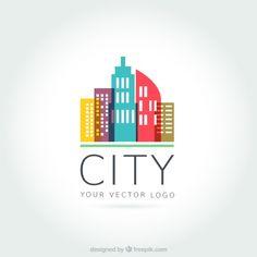 Logo Templates vectors, free files in . Typo Logo, Logo Branding, Logos, Free Logo Templates, City Logo, Vector Logo Design, Construction Logo, City Illustration, Industrial Design Sketch