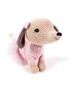 Zoomigurumi 6 - Brigitte the dachshund by Little Aqua Girl - Amigurumipatterns.net