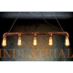 Industrielle STEAMPUNK lampe tuyau de fer plafonnier pendentif lumière VINTAGE rétro(China (Mainland))