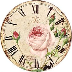 Clock Face Printable, Clocks Inspiration, Coffee Clock, Clock Template, Shabby Chic Clock, Retro Alarm Clock, Floral Clock, Clock Craft, Indian Art Paintings