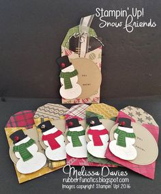 Good Morning, Stampers!      I am so glad you could join me for Day 8 of my 12 Days of Christmas! Today's project are my Snowman Gift Cards....